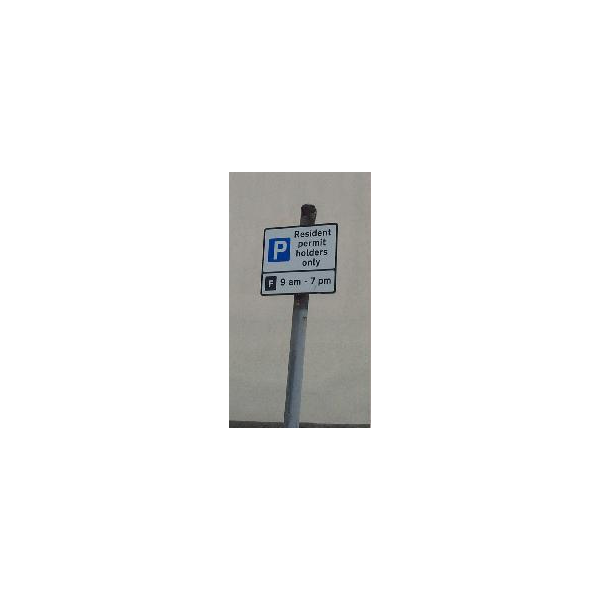 Resident Parking Permit Sign