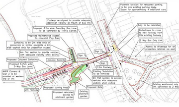 Plan for bus flyover west of Chelmsford (Image from Crest Nicholson via Chelmsford City Council masterplan)